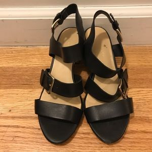 Kate Spade Black Leather Sandal